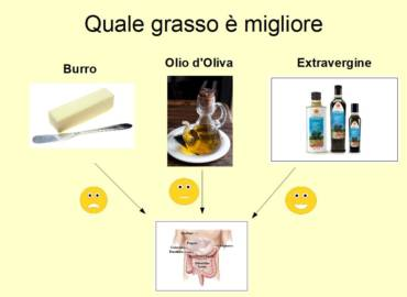 Rispetto a Burro e Olio di Oliva, l'Extravergine è il migliore alleato dell'intestino