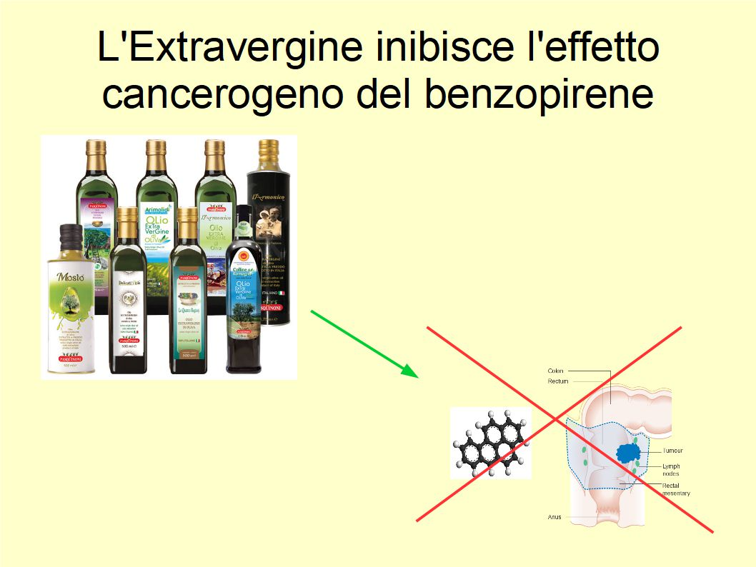L'Extravergine di Oliva contrasta l'effetto cancerogeno del benzopirene