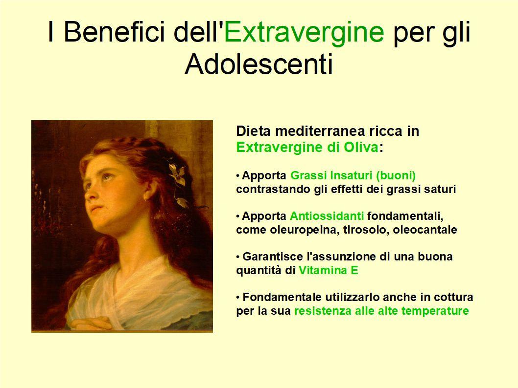 L'Extravergine è fondamentale nella dieta di bambini ed adolescenti