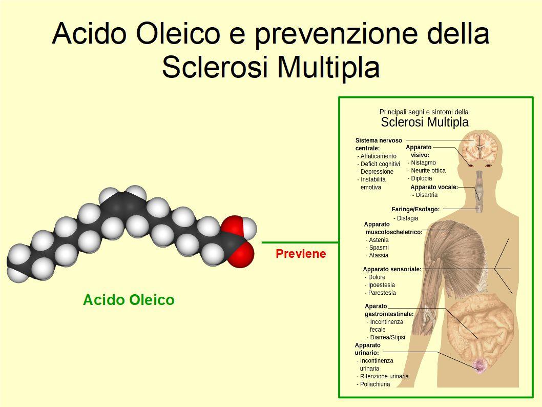 L'Acido Oleico ha un ruolo nella prevenzione della Sclerosi Multipla