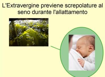 L'effetto lenitivo dell'Extravergine aiuta durante l'allattamento